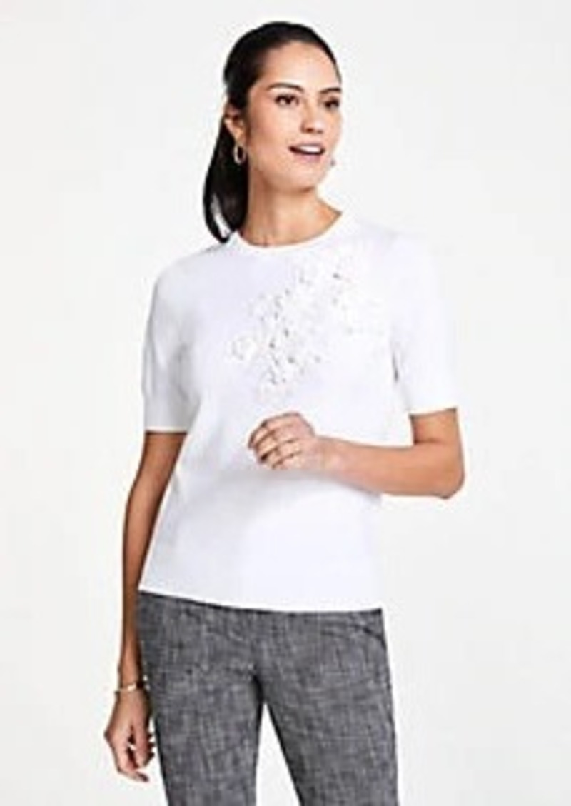 Ann Taylor Applique Sweater Tee