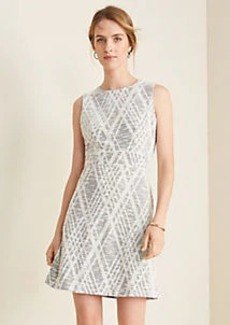 Ann Taylor Argyle Textured Flare Dress