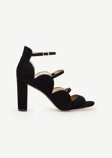 Ashton Suede Scalloped Heels