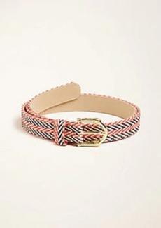 Ann Taylor Bamboo Buckle Straw Belt