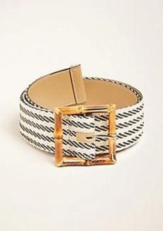 Ann Taylor Bamboo Buckle Woven Waist Belt
