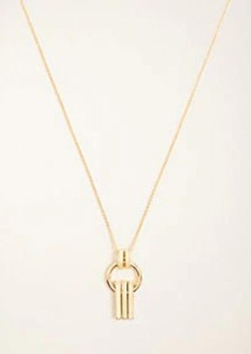 Ann Taylor Bar Linked Pendant Necklace