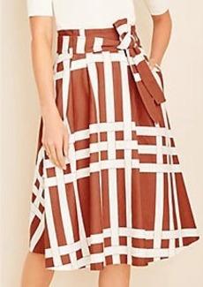 Ann Taylor Basketweave Tie Waist Skirt