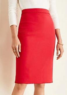 Ann Taylor Bauble Trim Doubleweave Pencil Skirt