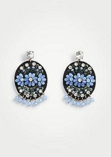 Ann Taylor Beaded Fabric Earrings