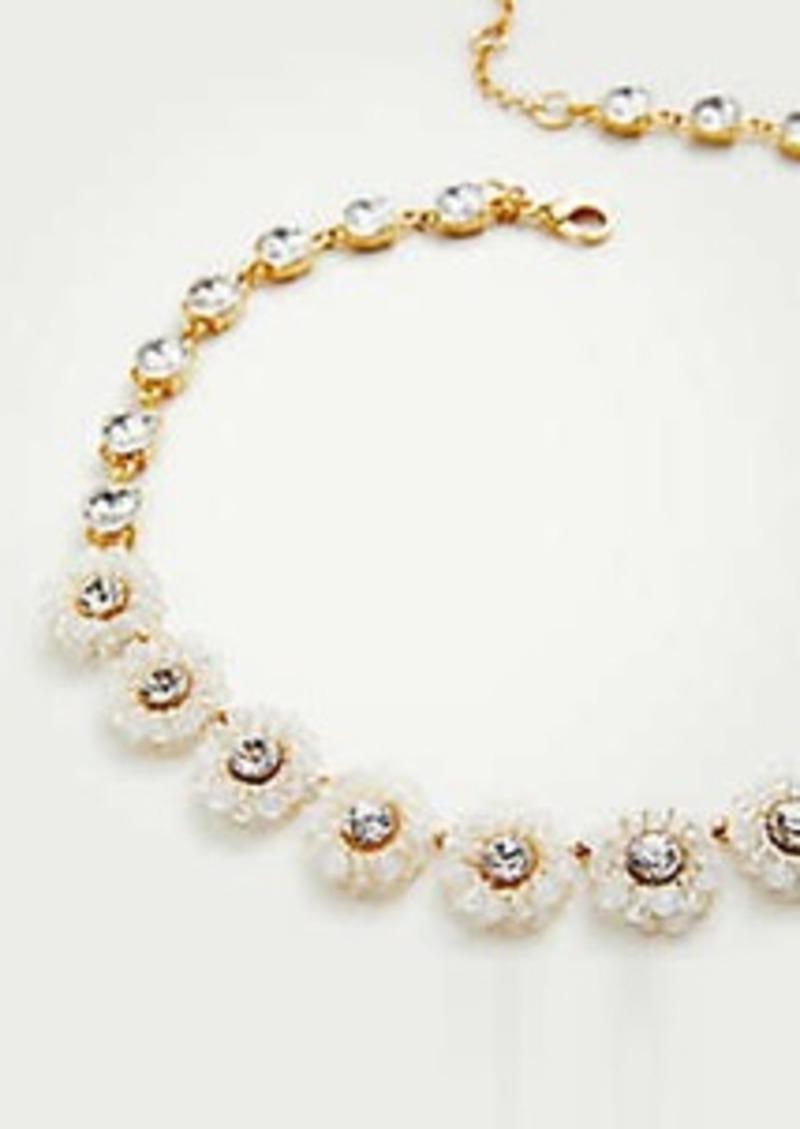 Ann Taylor Beaded Flower Necklace