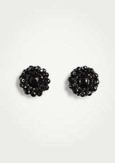 Ann Taylor Beaded Flower Stud Earrings