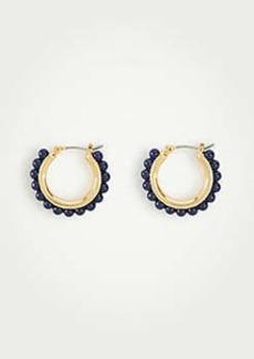 Ann Taylor Beaded Hoop Earrings