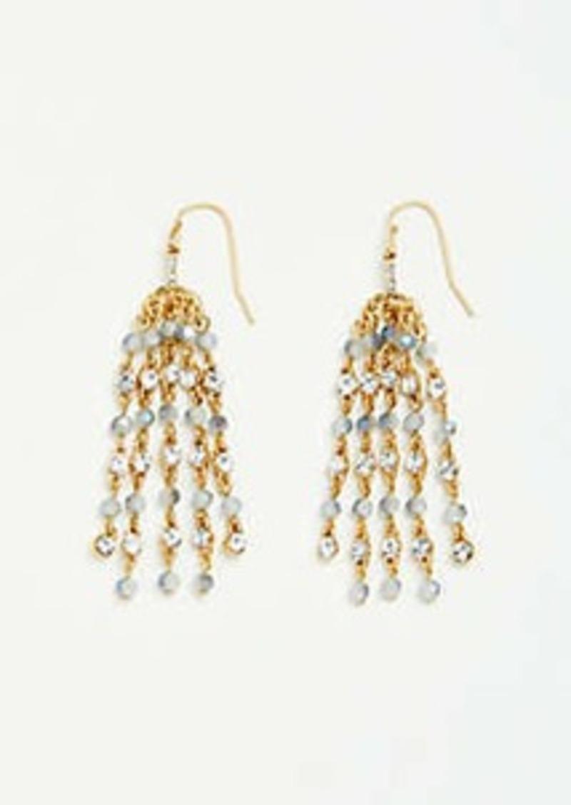 Ann Taylor Beaded Tassel Earrings