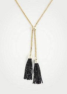 Ann Taylor Beaded Tassel Pendant Necklace