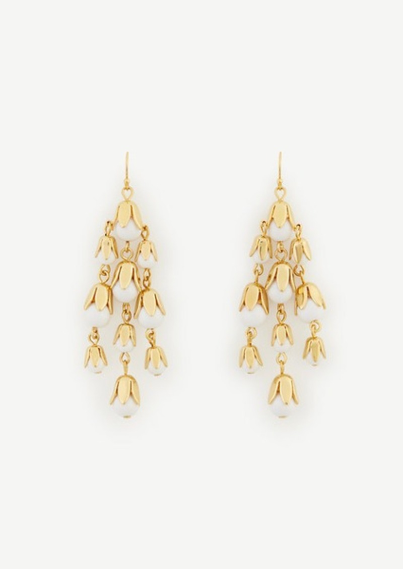 Ann Taylor Bell Flower Chandelier Earrings