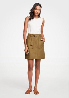 Ann Taylor Belted A-Line Skirt