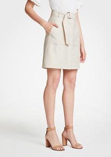 Ann Taylor Belted A-Line Skirt