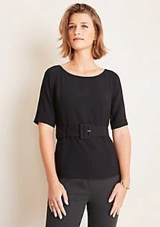 Ann Taylor Belted Boatneck Top