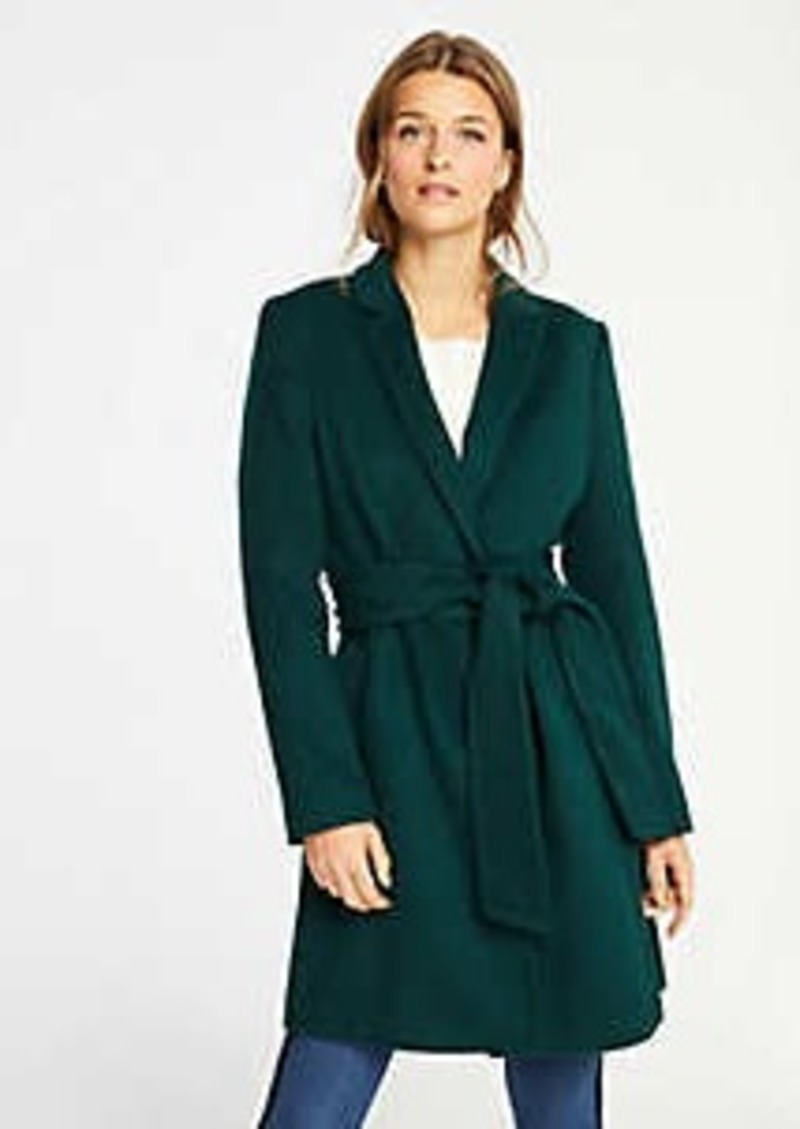 Ann Taylor Belted Chesterfield Coat