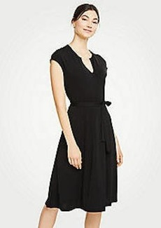 Ann Taylor Belted Flare Dress