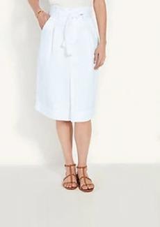 Ann Taylor Belted Paperbag Denim Skirt