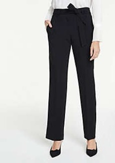 Ann Taylor Belted Straight Leg Pants