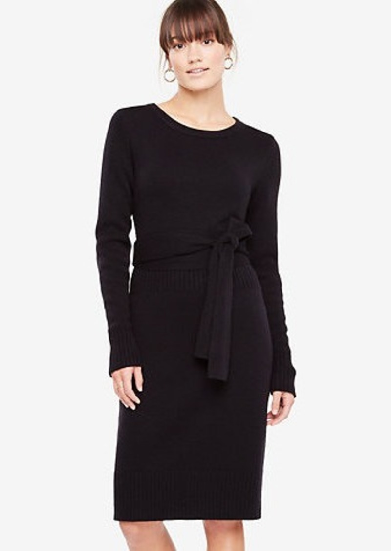 Ann Taylor Belted Sweater Dress Dresses