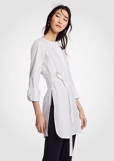 Ann Taylor Belted Tunic Shirt