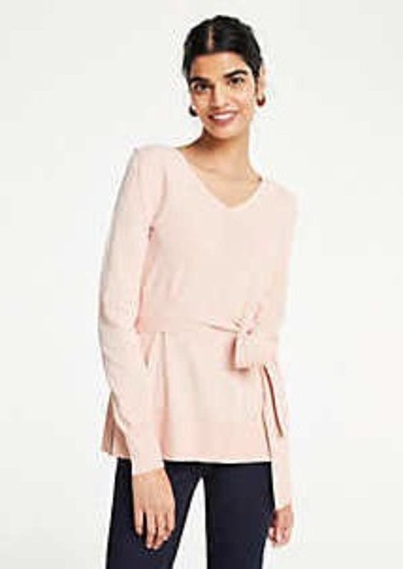 Ann Taylor Belted Tunic Sweater