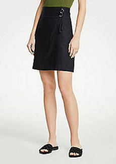 Ann Taylor Belted Twill Skirt