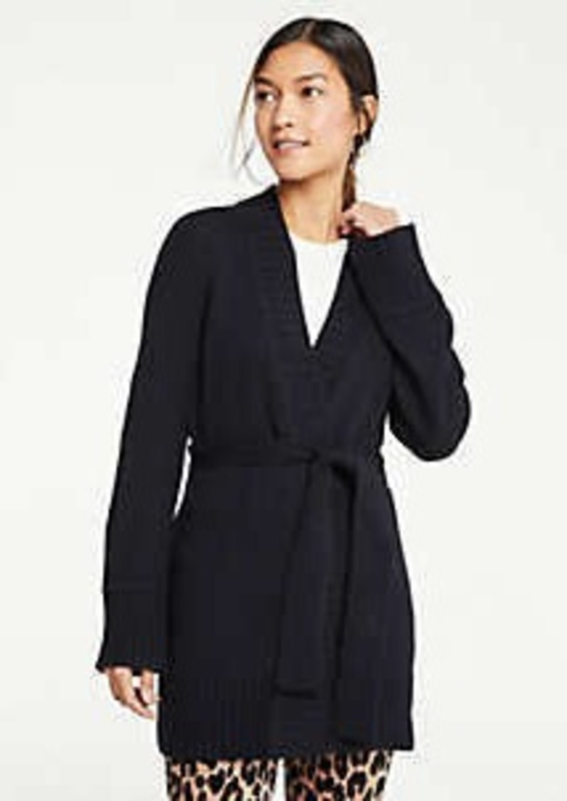 Ann Taylor Belted Wrap Cardigan
