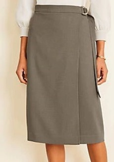 Ann Taylor Belted Wrap Skirt
