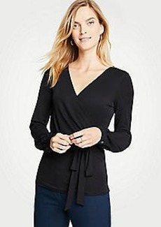 Ann Taylor Belted Wrap Top