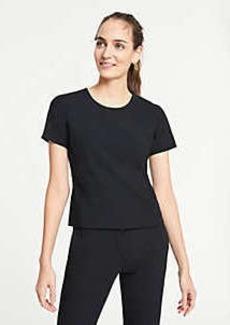 Ann Taylor Short Sleeve Top in Bi-Stretch