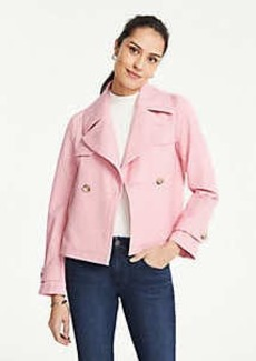 Ann Taylor Bi-Stretch Short Trench Coat