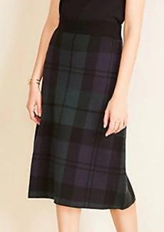 Ann Taylor Blackwatch Plaid Sweater Skirt