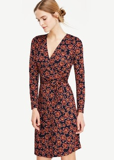 Ann Taylor Blooms Matte Jersey Wrap Dress