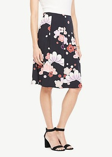 Ann Taylor Blooms Pleated Skirt