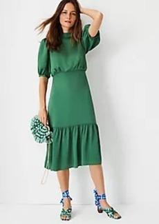 Ann Taylor Blouson Flounce Dress