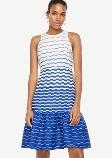Ann Taylor Blurred Stripe Flare Dress