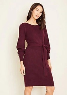 Ann Taylor Boatneck Belted Sweater Dress