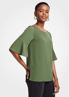 Ann Taylor Boatneck Flare Sleeve Top
