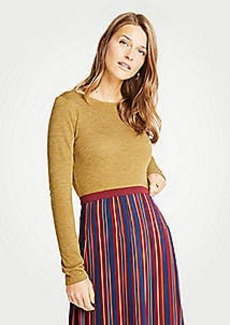 Ann Taylor Boatneck Long Sleeve Tee