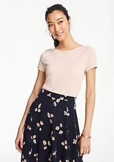 d2940d861a Ann Taylor Petite Stripe Pleated Cuff Blouse   Casual Shirts