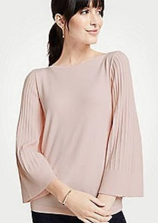 Ann Taylor Boatneck Pleated Sleeve Sweater
