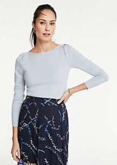 Ann Taylor Boatneck Puff Shoulder Sweater