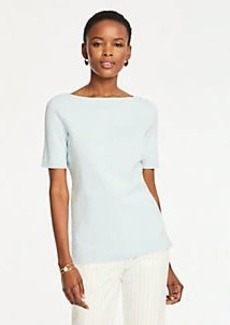 Ann Taylor Boatneck Sweater Tee