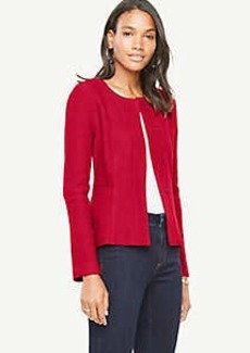 Ann Taylor Boiled Wool Peplum Jacket