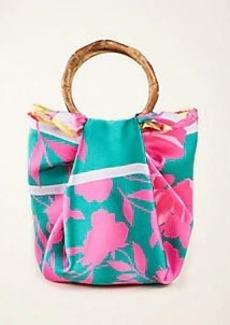 Ann Taylor Border Floral Scarfed Bucket Bag