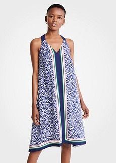 Ann Taylor Border Strappy Midi Dress