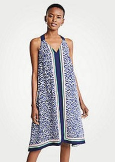 Ann Taylor Border Strappy Midi Dress