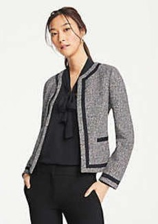 Ann Taylor Bordered Tweed Jacket