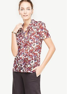 Botanical Tie Neck Blouse