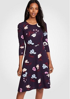 Botanical Tulip Circle Cut Flare Dress